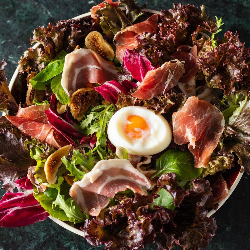 主廚沙拉 Chef's Salad(因外帶食安考量,外帶無糖心蛋)