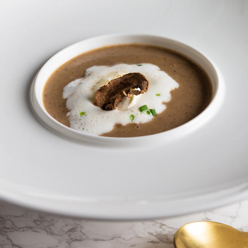 松露奶油蕈菇濃湯 / Cream of Mushroom Soup with Truffle oil