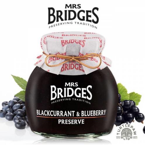 英橋夫人 黑加侖藍莓果醬(大)340g
