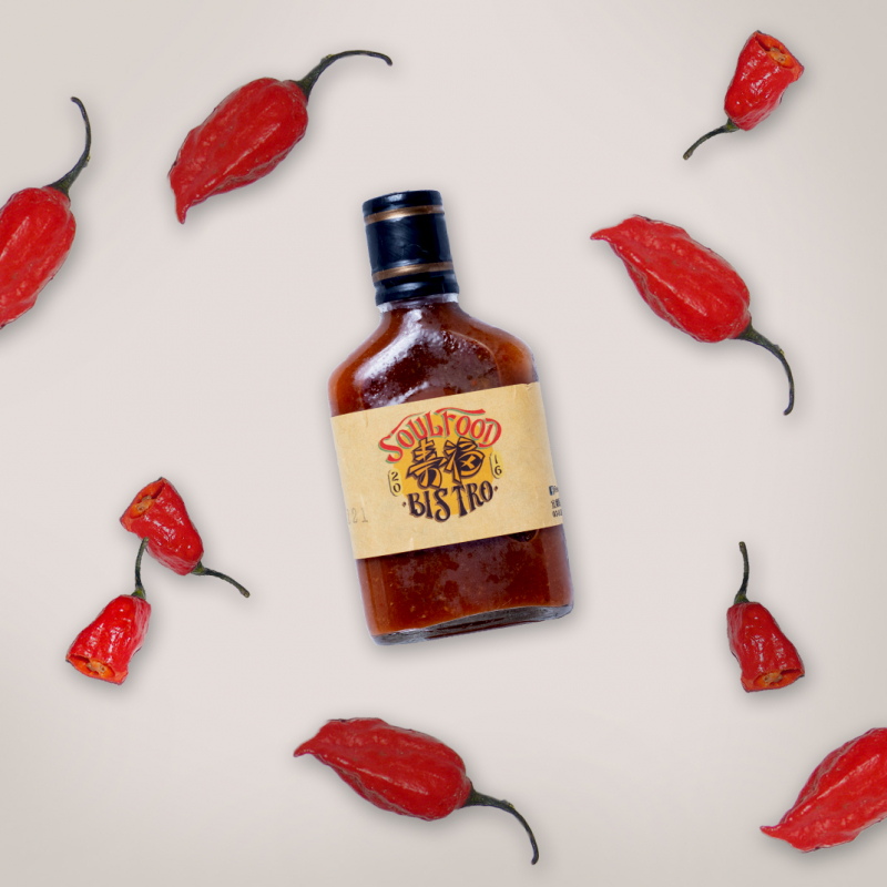 煙燻死神辣醬 / smoked Carolina Reaper chili sauce