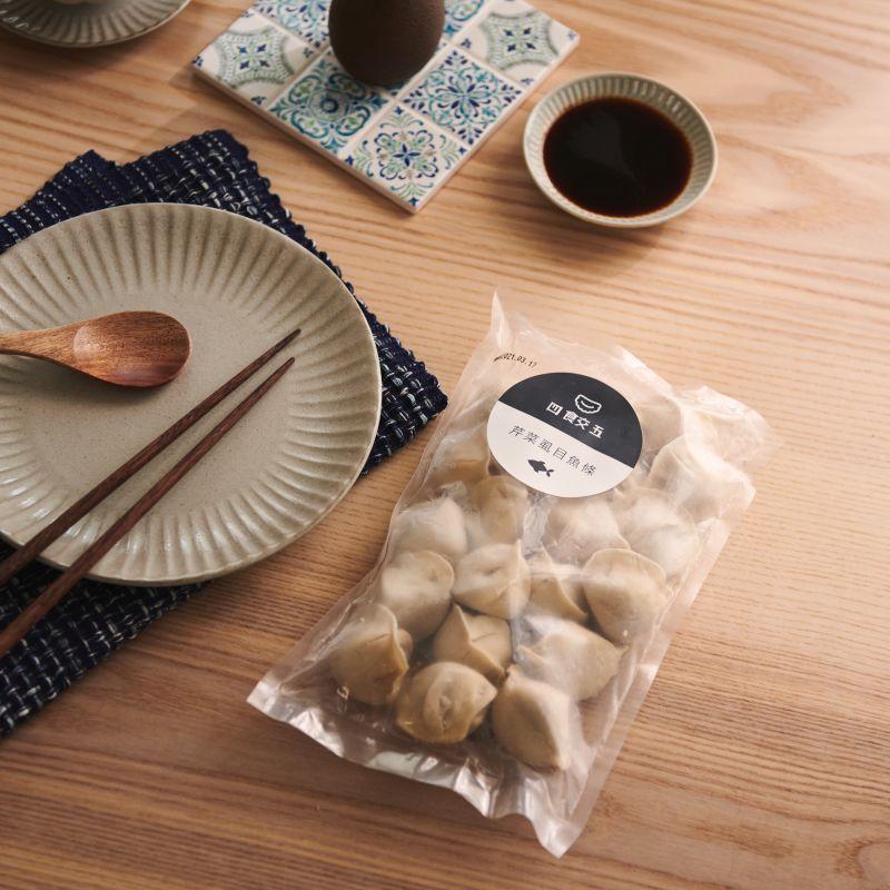 四食五 冷凍水餃 虱目魚條芹菜口味